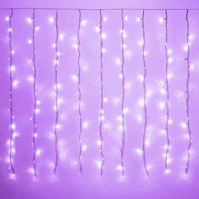 LED Fényfüggöny 2mx1,5m Lila