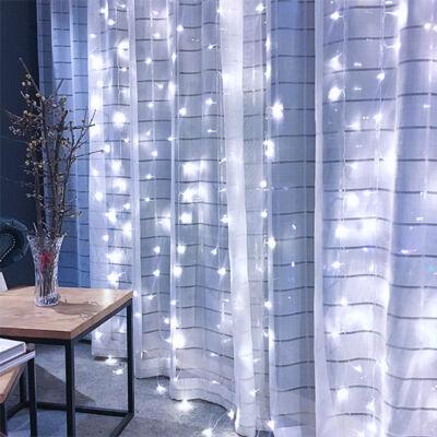 LED Fényfüggöny 3mx3m Hideg Fehér