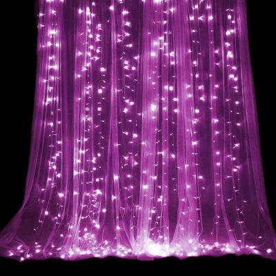LED Fényfüggöny 3mx3m Pink