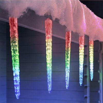 Olvadást imitáló csepegő jégcsap 50cm RGB Színes Extra Valósághű