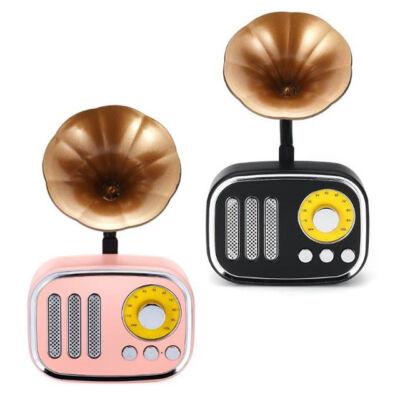 Bluetooth retró mini fonográf TF AUX MP3 FM