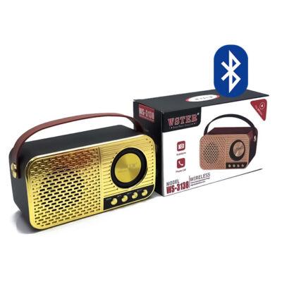 Bluetooth Hangszóró Kihangosító TF USB AUX FM WS-3138