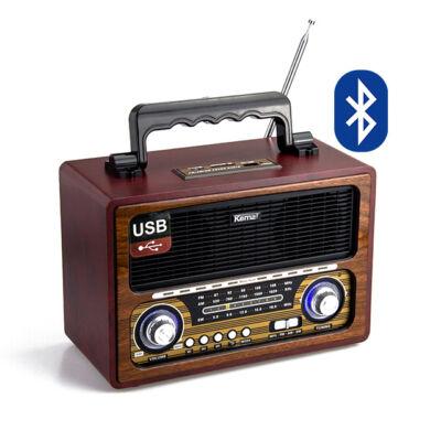 Bluetooth hordozható multimédia lejátszó MD-1800BT MP3 USB FM rádió TF SD RETRÓ