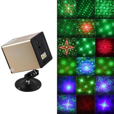 LED mini lézer projektor Bluetooth hangszóró 2 in 1 színpad disco világítás HL-516