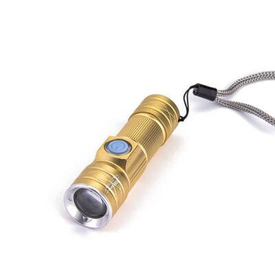 LED zseblámpa tölthető nagy fényerő teleszkópos