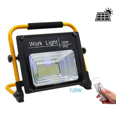 Napelemes szolár LED munkalámpa tölthető 50W 80W 120W IP67 W745A