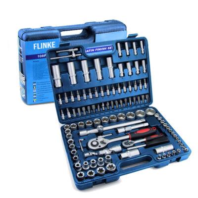 Flinke Racsnis dugókulcs készlet 108 darabos