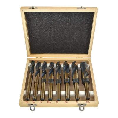 BLACK HSS fúró készlet fa dobozban 8 darabos