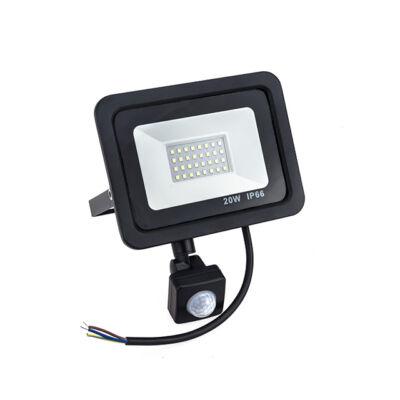 Kültéri LED reflektor mozgásérzékelővel 20W IP66