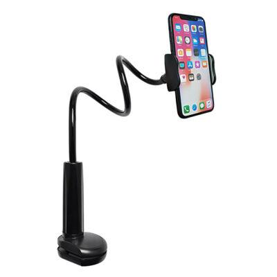 Felcsíptethető flexibilis univerzális telefontartó fekete