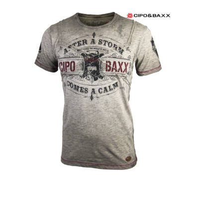 Férfi póló Cipo & Baxx DP90