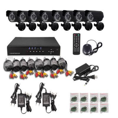 CCTV biztonsági kamera megfigyelő rendszer 8db kamerával