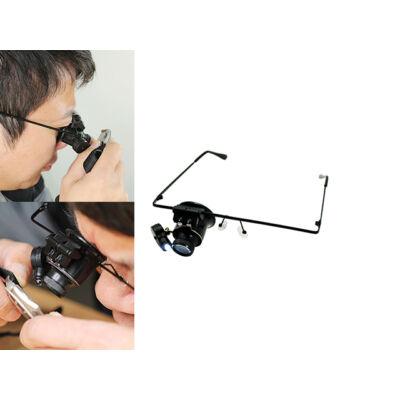 LED-es nagyítós szemüveg órajavításhoz és finom szerkezetekhez