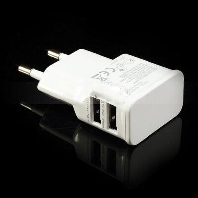 Dupla USB hálózati töltő adapter