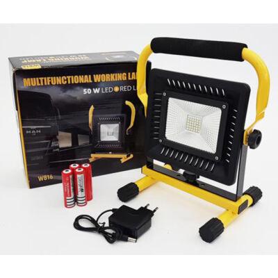 Ultra erős akkumulátoros munkalámpa 50W hordozható W816