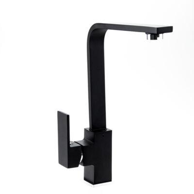 Delir magasított mosdó csaptelep fekete DE02