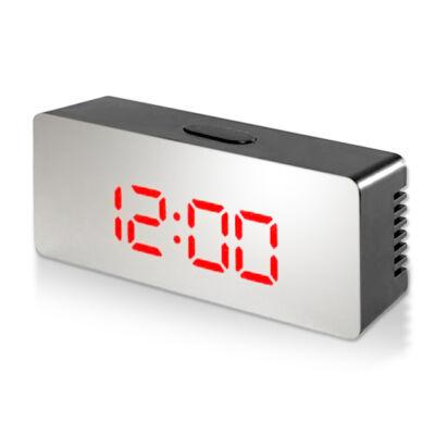 Tükrös LED ébresztőóra hőmérővel piros számokkal DS-3622L