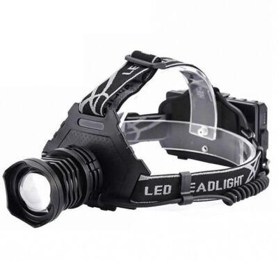 Nagy fényerejű zoomolható LED fejlámpa tölthető 1000Lm BL T70