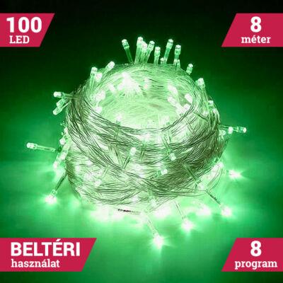 100 LED Zöld Karácsonyi Beltéri fényfüzér