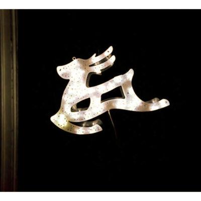 LED világító ablakdísz rénszarvas 40cm meleg fehér