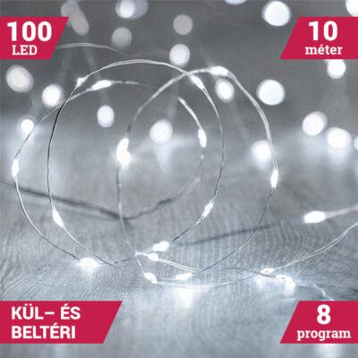 10M LED tündérfény fény huzal vízálló hideg fehér