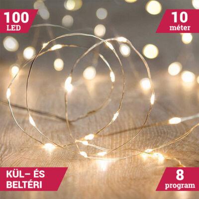 10M LED tündérfény fény huzal vízálló MELEG FEHÉR
