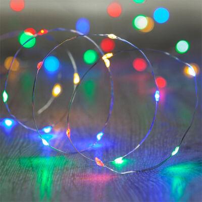 10M LED tündérfény fény huzal vízálló színes
