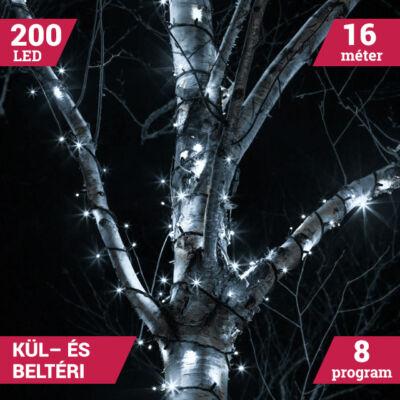 Kültéri 200 LED HIDEG FEHÉR Karácsonyi Fényfüzér