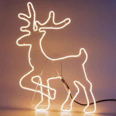 LED rénszarvas meleg fehér kültéri beltéri álló 60cm