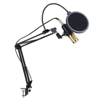 Stúdió kondenzátor mikrofon szett állvánnyal énekléshez streameléshez TB2136
