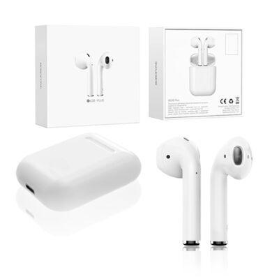 BOROFONE fehér vezeték nélküli fülhallgtó headset töltőtokkal BE28 PLUS