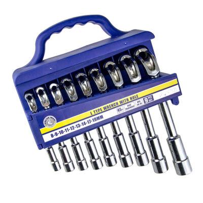 Pipakulcs készlet hatszög 9 részes 8-19 mm