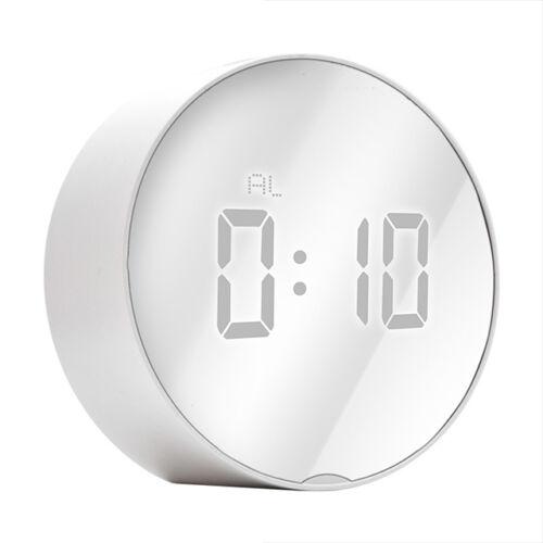 Digitális LED tükör kijelzős asztali ébresztő óra hőmérő DT-6505
