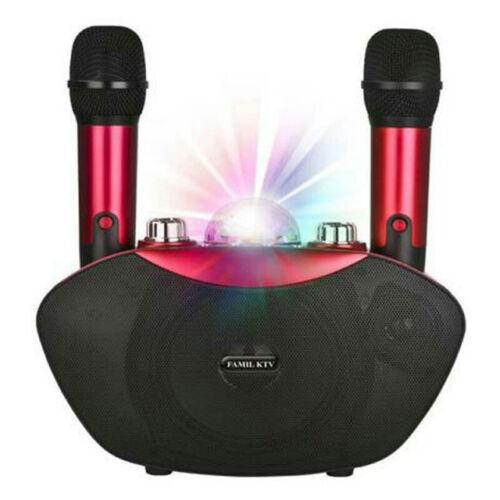 Bluetooth karaoke hangszóró 2db mikrofon LED fények MP3 USB TF TB2074(Y-8)