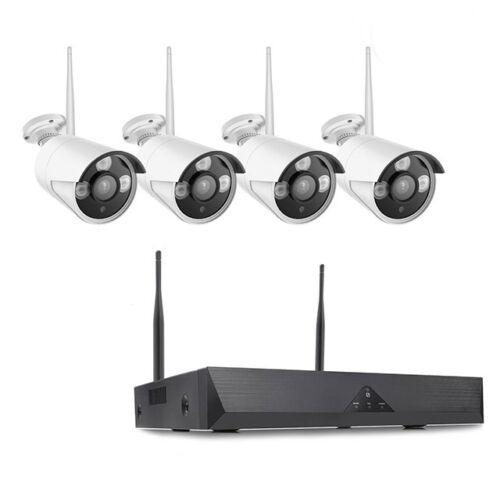 WIFI Vezeték Nélküli 4K Biztonsági Kamera Rendszer CCTV 4 Kamerás