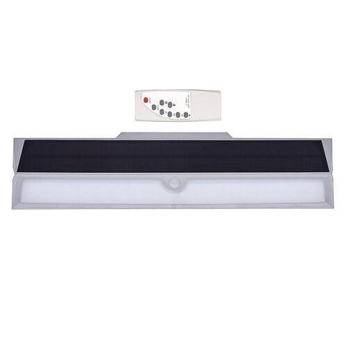 Napelemes szolár LED kültéri lámpa integrált szolár panellel távirányítóval W124
