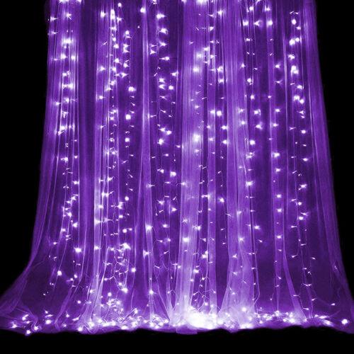 LED Fényfüggöny 3mx3m Lila