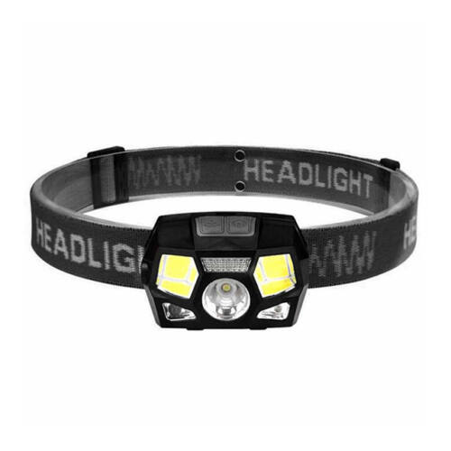 Nagy fényerejű COB LED fejlámpa mozgásérzékelő szenzoros tölthető