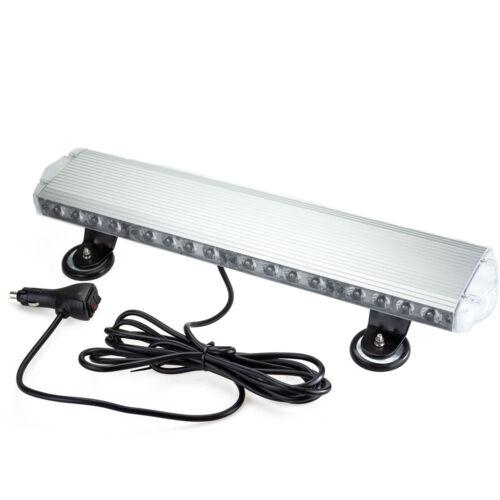 Autós LED Négyoldalas Vészvillogó borostyánsárga színű 53cm 128W mágneses tartóval
