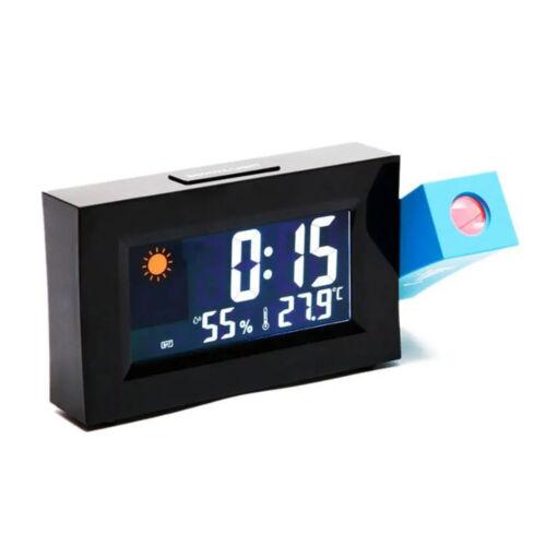 Elektromos időjárás-előrejelző óra idővetítéssel hőmérséklet és páratartalom kijelzővel 8290