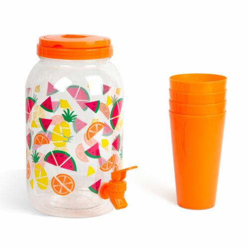 Italadagoló csappal műanyag pohárszettel