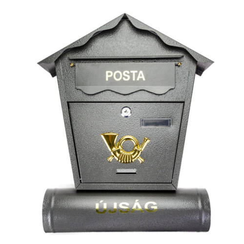 Kültéri zárható postaláda újságtartóval több színben CP-001