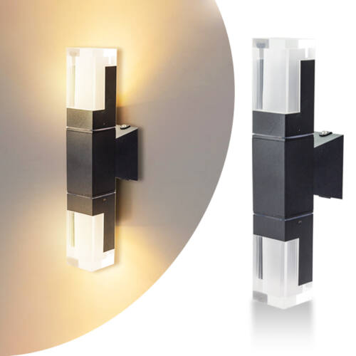 Kültéri LED fali lámpa 10 W meleg fehér