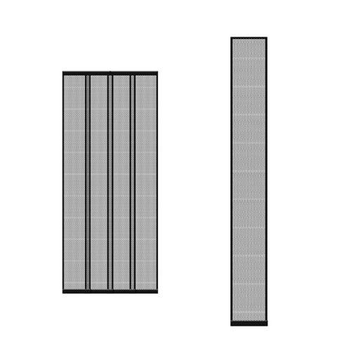 Szúnyogháló függöny ajtóra fekete