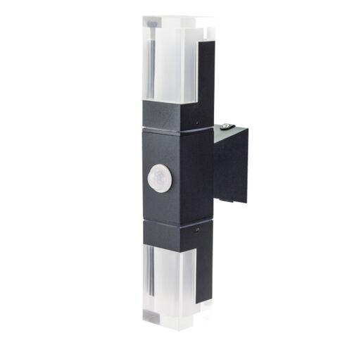 Mozgásérzékelős kültéri LED fali lámpa 10 W hideg fehér