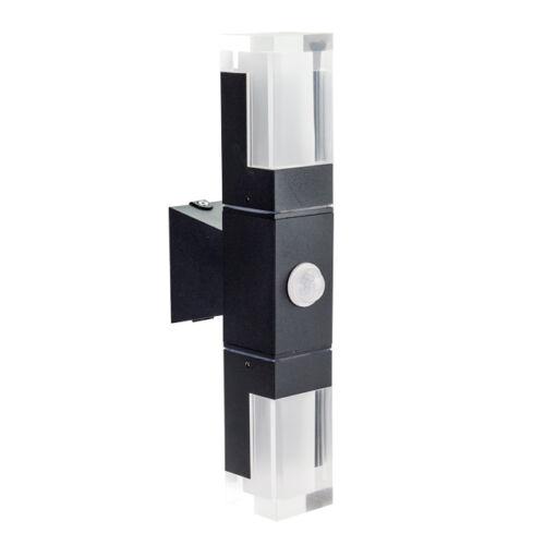 Mozgásérzékelős kültéri LED fali lámpa 10 W meleg fehér