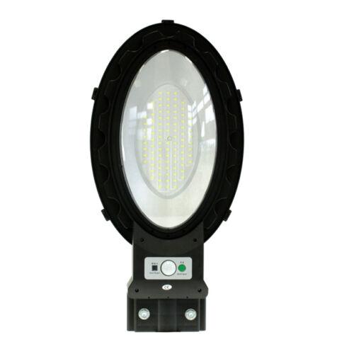 Mozgásérzékelős napelemes utcai LED lámpa távirányítóval 120W teljesítménnyel T924