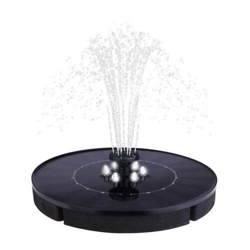 Napelemes LED úszó szökőkút 180mm 8 LED hideg fehér