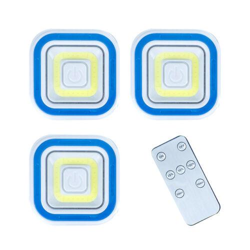 3db COB ledes lámpa vezeték nélküli távirányítóval négyzet