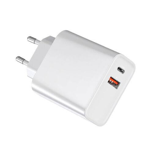 Original PD hálózati töltő adapter gyorstöltéssel Type C és USB QC3.0
